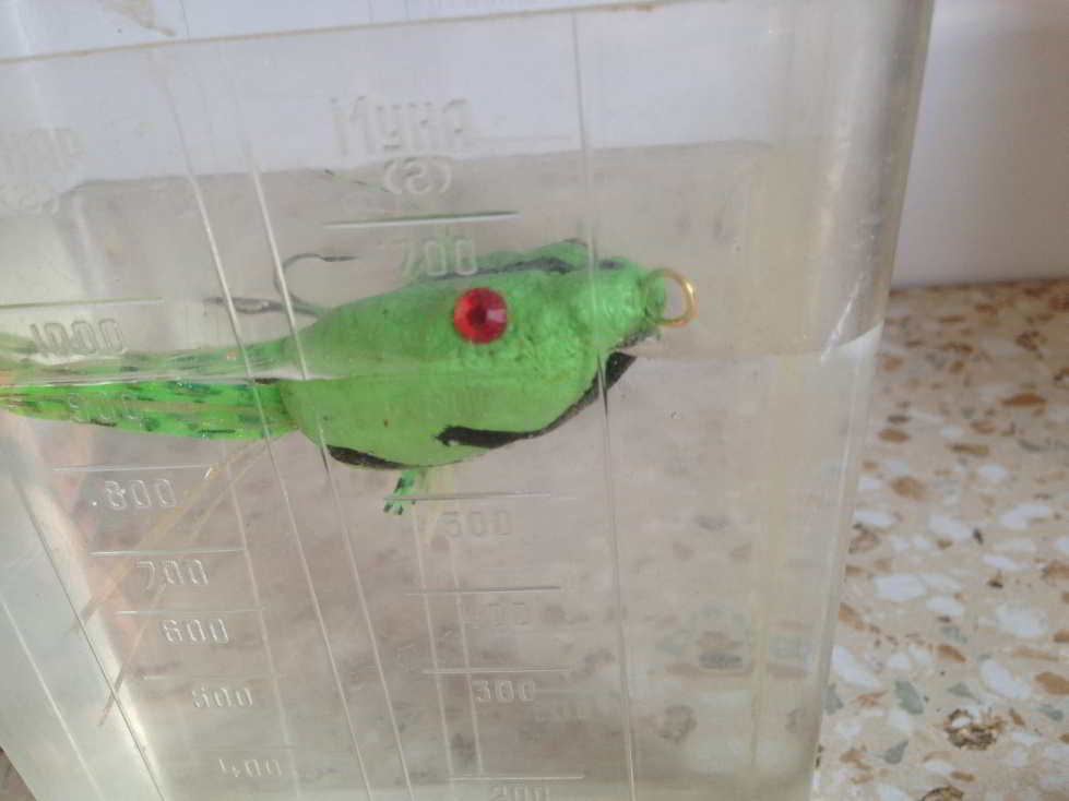 Пробковая лягушка на щуку от читателей статьи