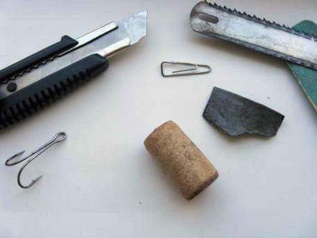 материалы и инструменты для изготовления приманки